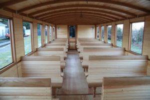 Wagon du Train des Mouettes à Saujon