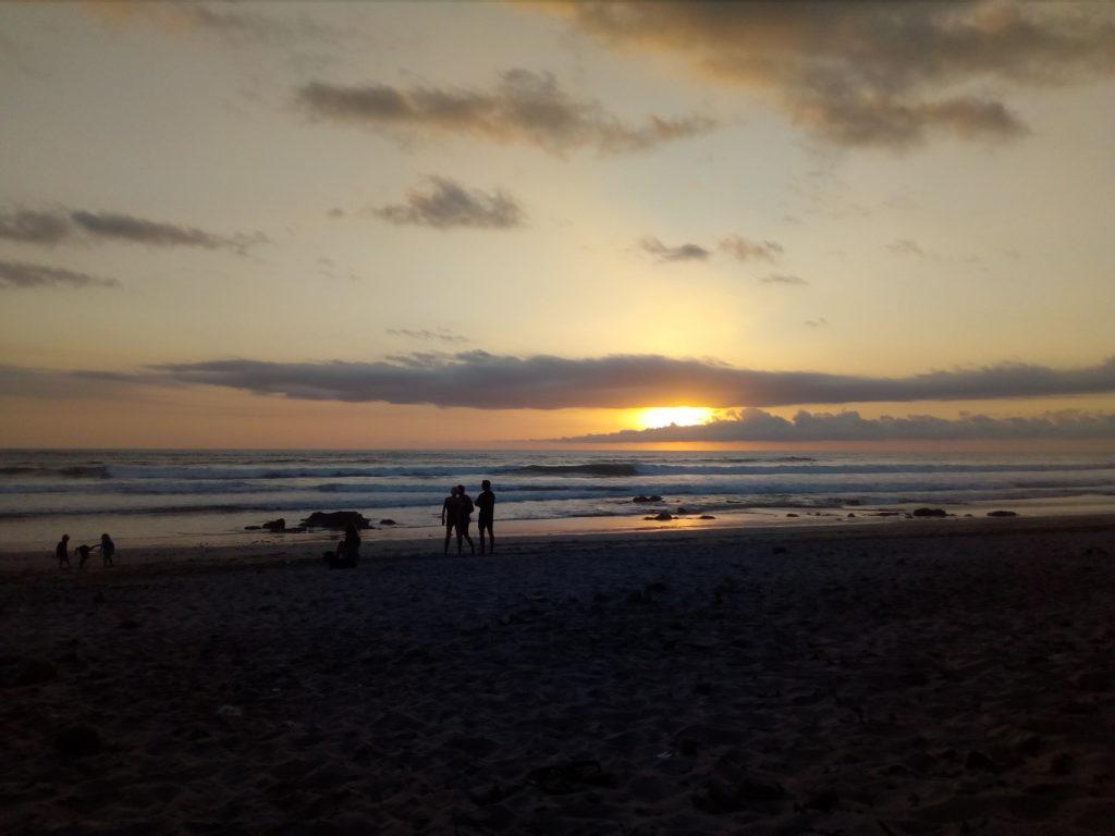 Coucher de soleil sur Santa Teresa