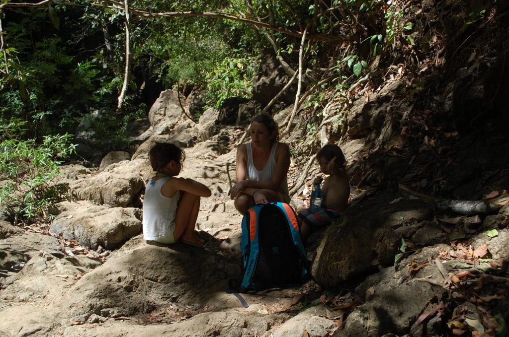 Sur le chemin de la cascade à Montezuma