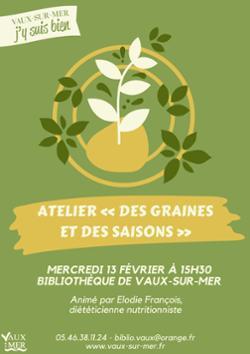 """Atelier """"Des graines et des saisons"""" à Vaux-sur-Mer"""