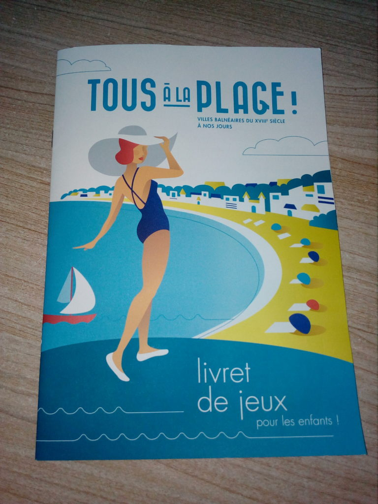 """livret Jeux Enfant Exposition """"Tous à la Plage"""" au Musée de Royan"""