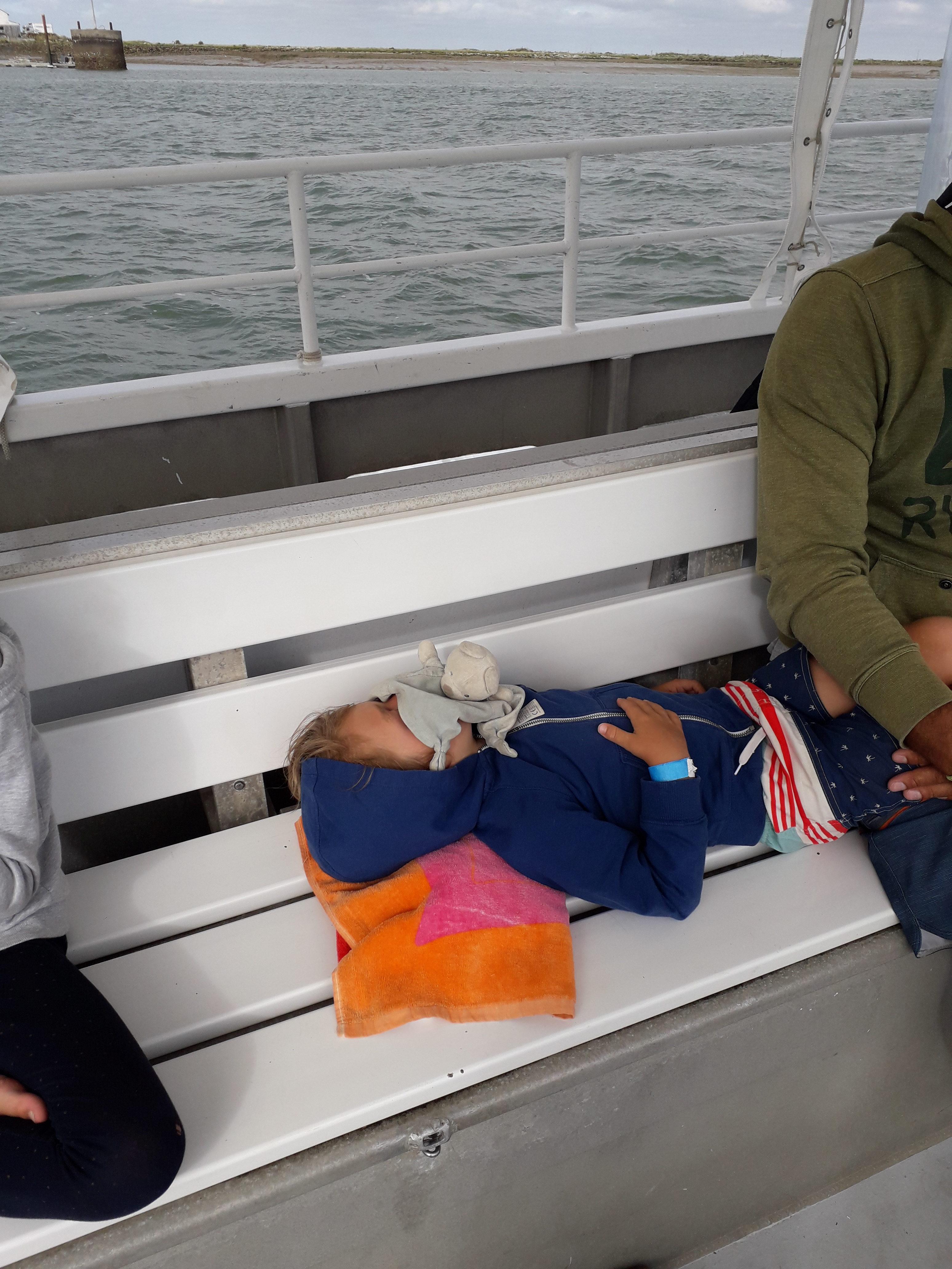 Tinou s'est endormi aprés une belle journée d'aventure