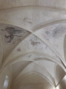 Fresques du réfectoire de l'abbaye de Trizay