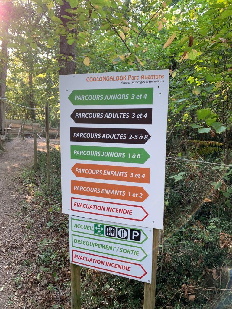 Les parcours du parc Coolongalook à Royan