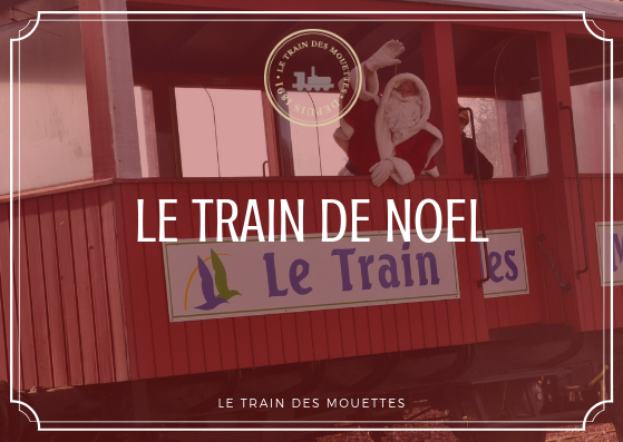 Train de noël  du Train des Mouettes à Saujon