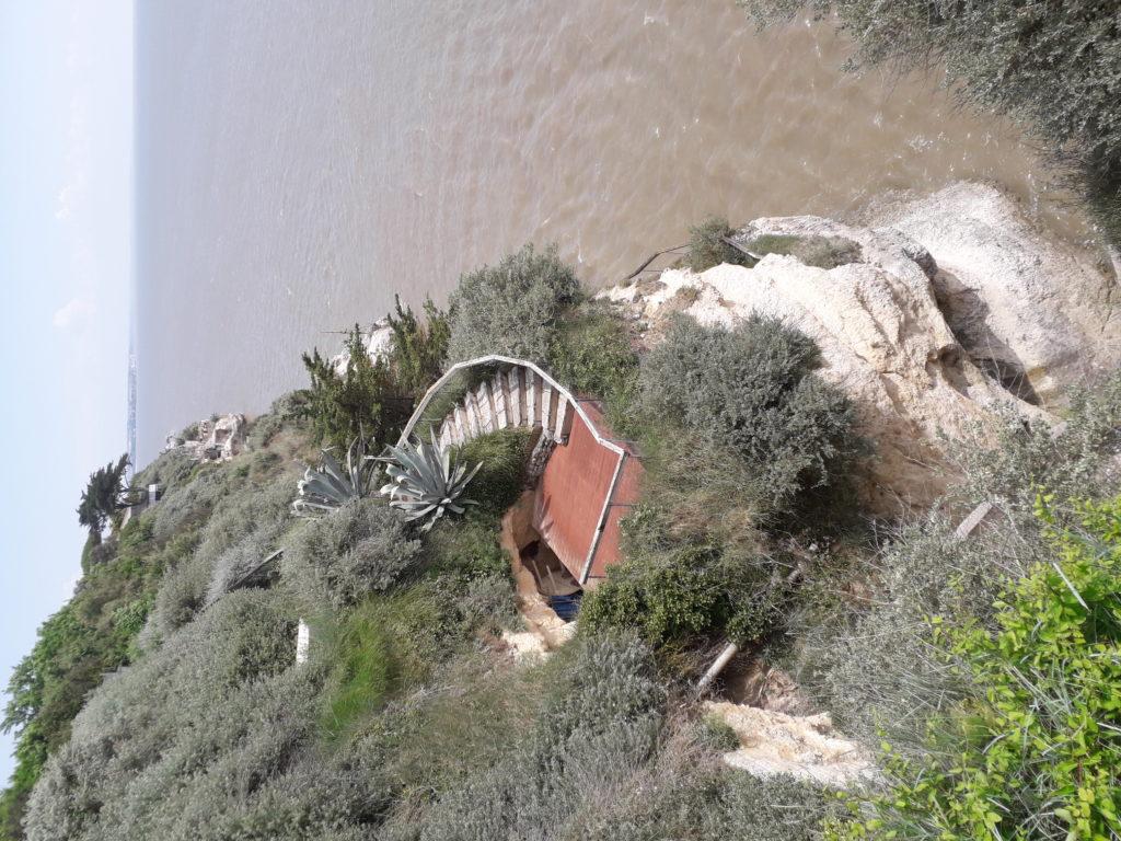 Vue des Grottes des Matata à Meschers-sur-Gironde