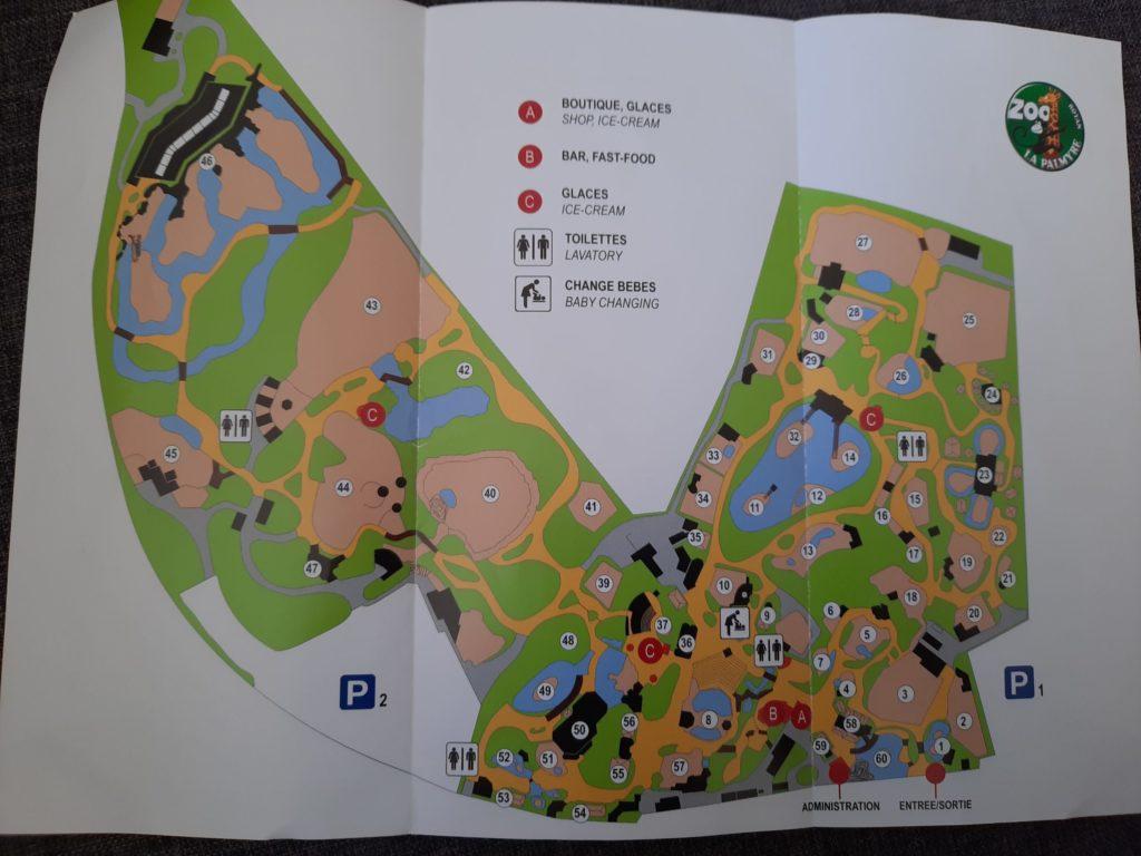 Plan du site du zoo de La Palmyre aux Mathes La Palmyre