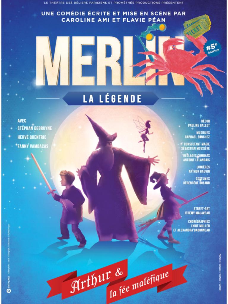 """Festival de théâtre-comédie """"Coquillages et crustacés-Merlin la légende"""" à Royan"""